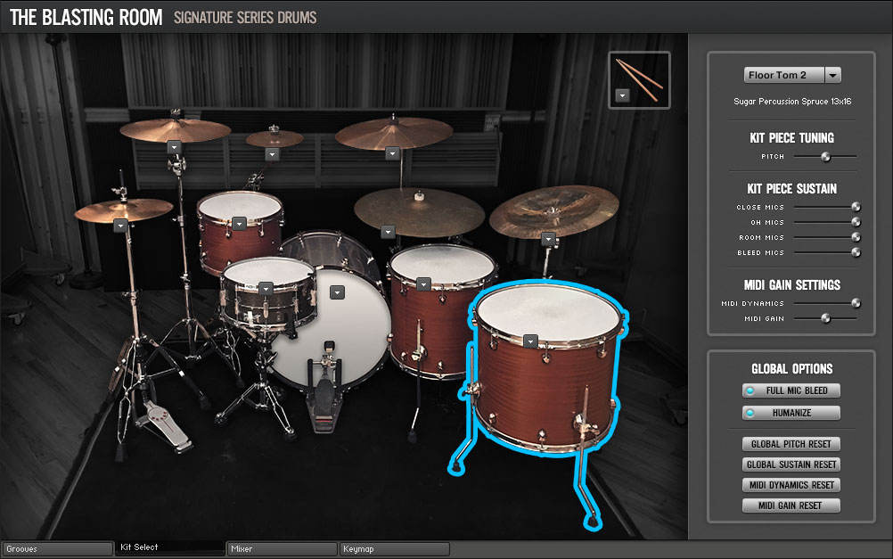 Room Sound - Blasting Room Signature Series Drums