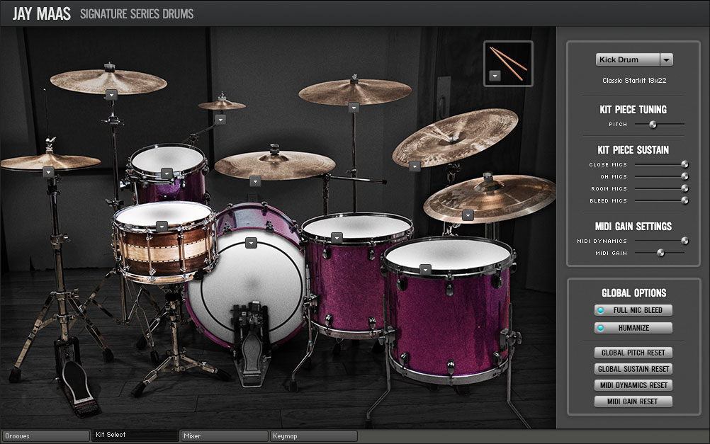 Room Sound - Jay Maas Signature Series Drums